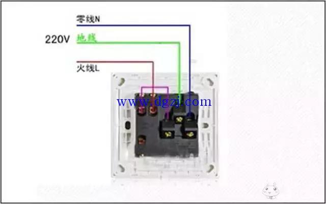 五孔开关插座接线图_开关控制单控开关接线图